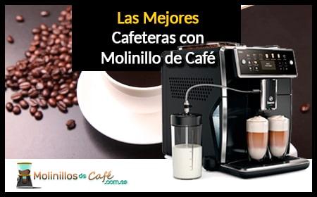 cafetera con molinillo de café