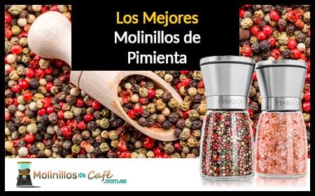 Guijiyi Molinillo de Pimienta,Molinos de Pimienta Madera,Molinillo de Pimienta con Cepillo de Limpieza